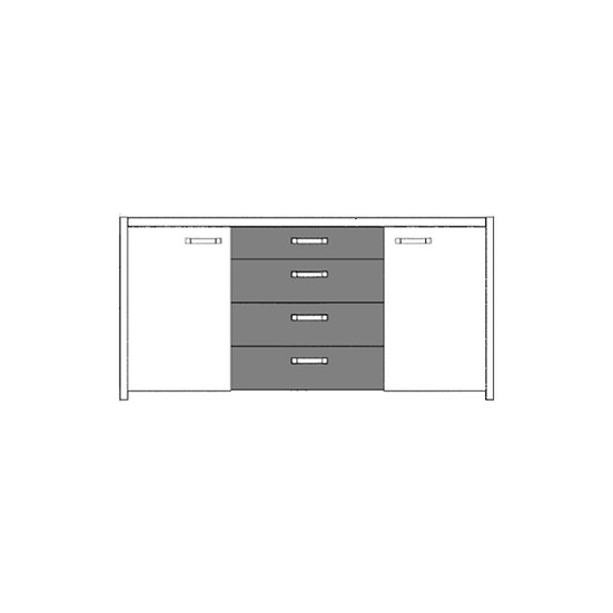 Novasol 2 Door 4 Drawer Storage