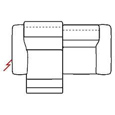 MEGAN 216cm SOFA POWER RECLINE LHF