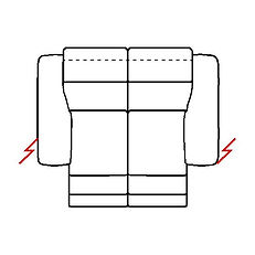 MEGAN 178cm SOFA POWER RECLINE TWIN
