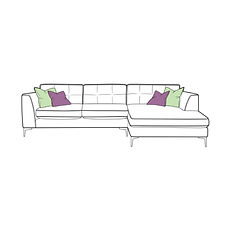 Lugano Small Chaise Sofa