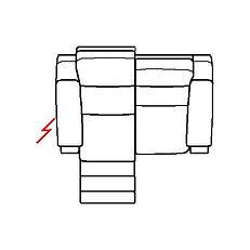 ETNA 157cm SOFA LHF POWER RECLINE