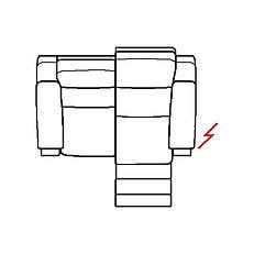 ETNA 157cm SOFA RHF POWER RECLINE