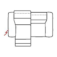 MEGAN 196cm SOFA POWER RECLINE LHF
