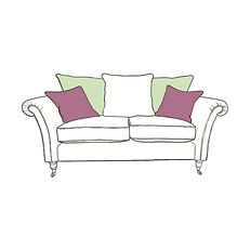 CHATSWORTH SMALL PILLOW BACK SOFA