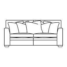 GREENWICH LARGE SOFA (Scatter Back)