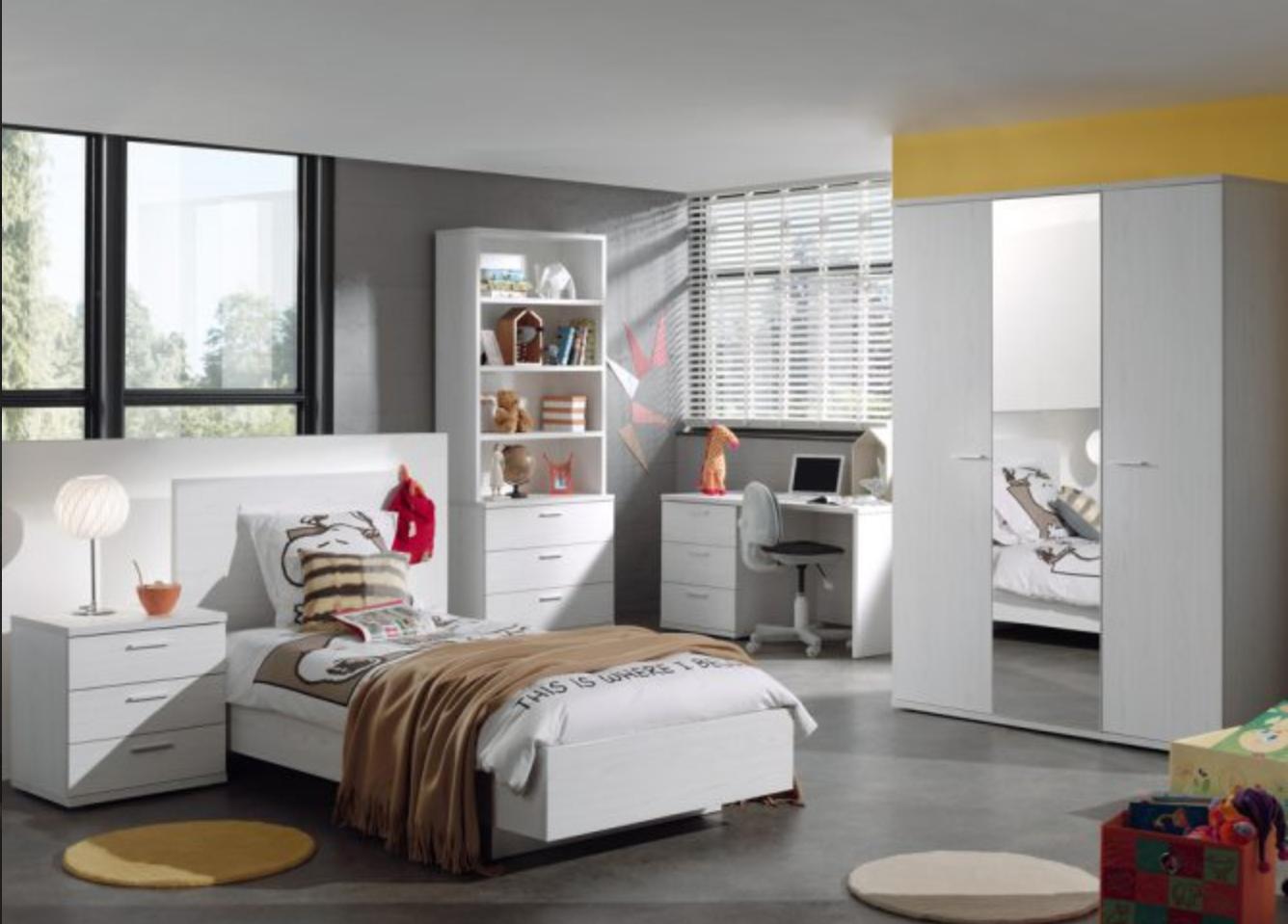 Halle Light Oak Bedroom Pic2