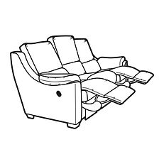ALBANY POWER RECLINER 3 SEATER SOFA