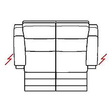 ETNA 188cm SOFA TWIN POWER RECLINE