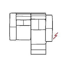 ARIA 159cm SOFA RHF POWER RECLINE