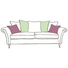 CHATSWORTH XL PILLOW BACK SOFA