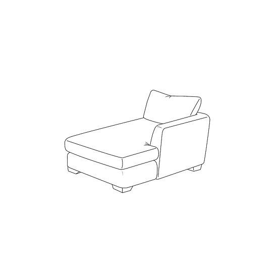 Marino 1 Arm Chaise RHF