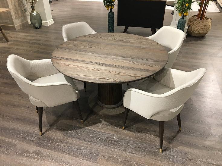 Velvet table & 4 chairs