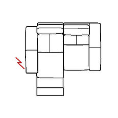ARIA 159cm SOFA LHF POWER RECLINE