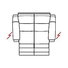 ETNA 158cm SOFA TWIN POWER RECLINE