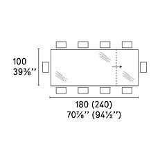 OMNIA TABLE 100 X 180 (240)cm