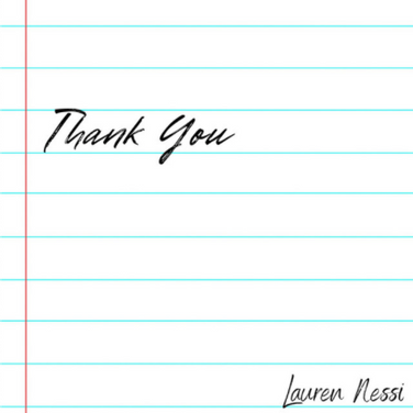 Thank You by Lauren Nessi