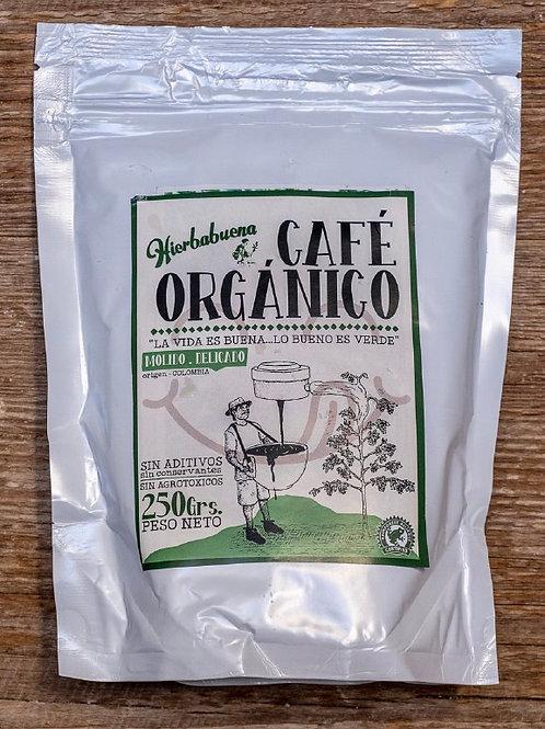 Café Orgánico Molido Delicado x 250g