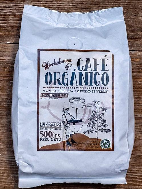 Café Orgánico en Grano Intenso  x 500g