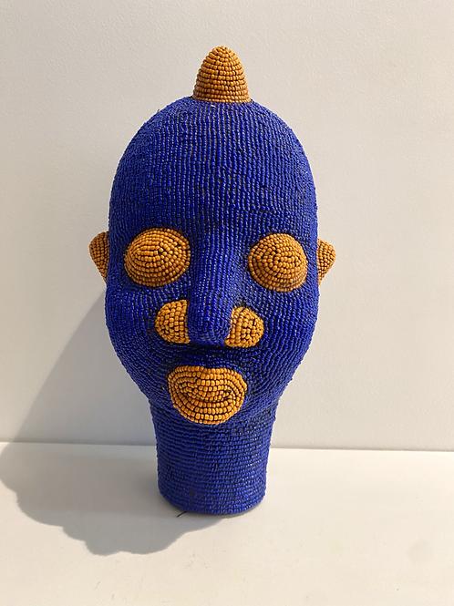Tête africaine bleu majorelle