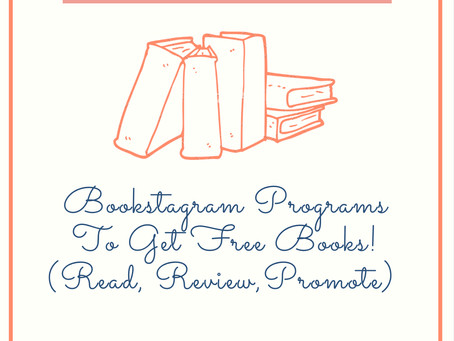 Book Programs You Should Sign Up For (Get Free Books/ARCs To Read, Review, and Promote) 20+!