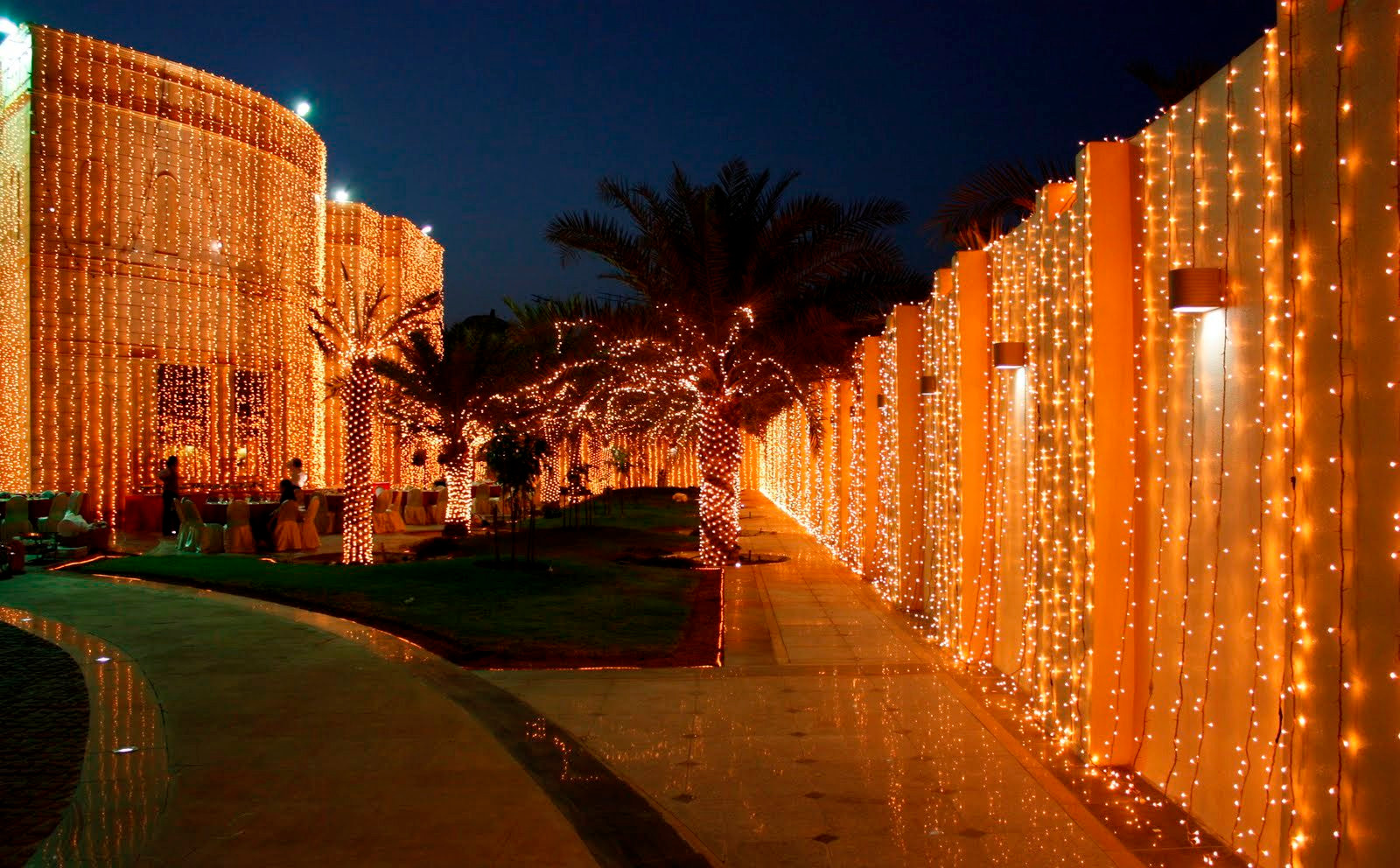 Villa wedding lights decoration, Dubai.J