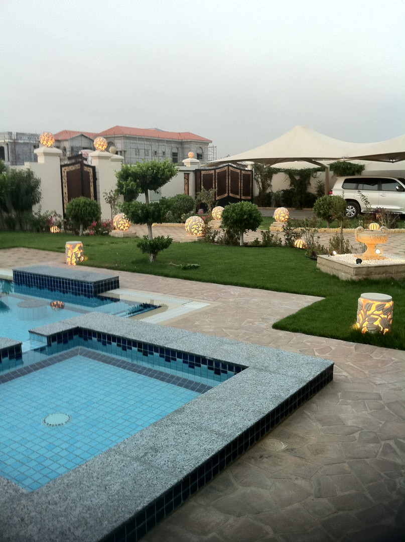Villa civil works, landscaping, Dubai.JP
