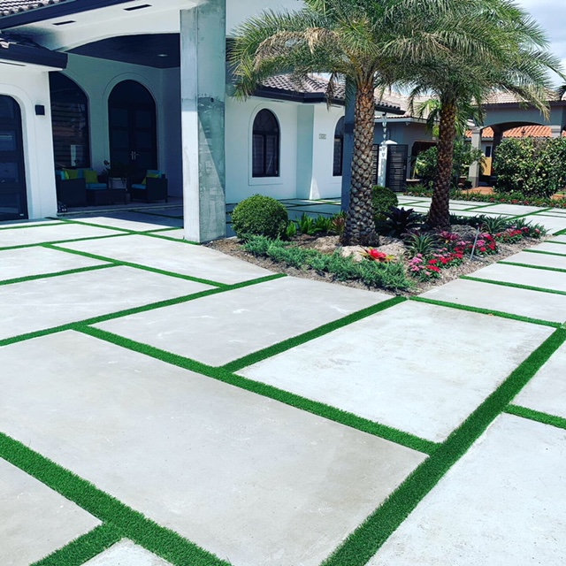 Concrete Slab & Turf Installation