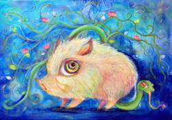 白猪と蔦蛇