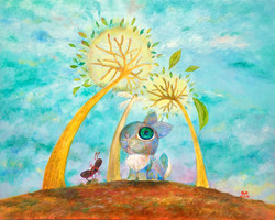 浮葉の木下の秋兎