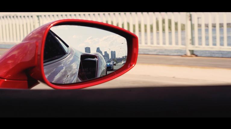 Montreal from Ferrari rear mirror