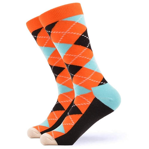 Orange Argyle
