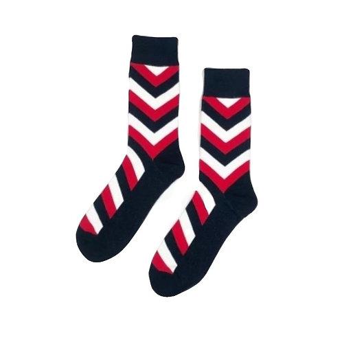 Red-White V- Stripes
