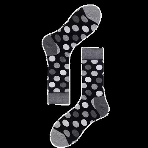 Black w/ Grey Polka Dot