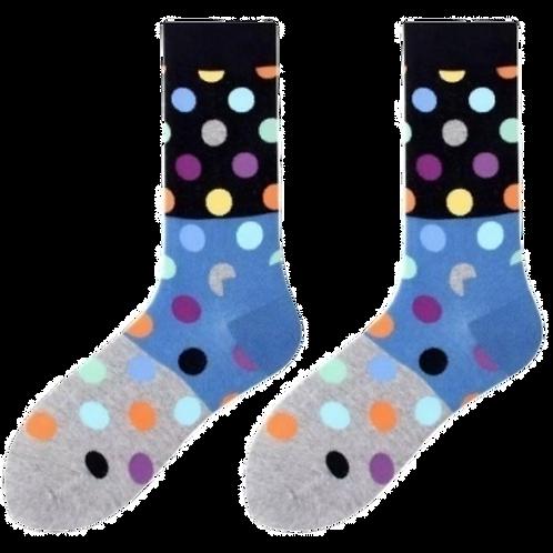 Black-Blue-Grey Polka Dot