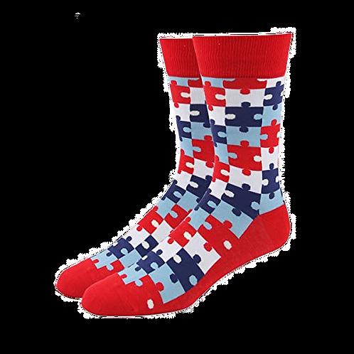 Red Puzzle (Autism Logo)