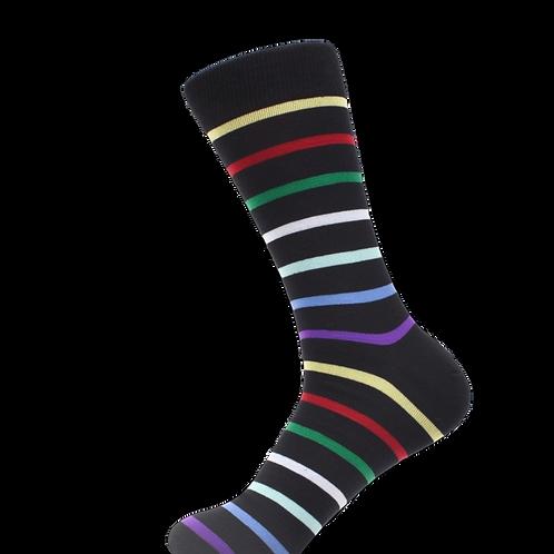 Black w/Multi- Color Stripes