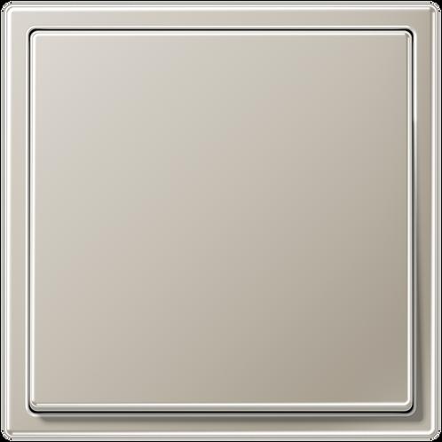 Выключатель одноклавишный LS 990,металл, цвет-Нерж.сталь