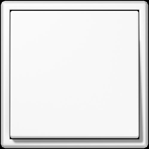 Выключатель одноклавишный LS 990, белый