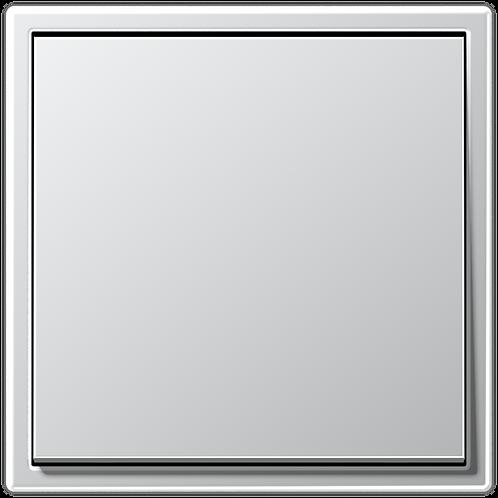 Выключатель одноклавишный LS 990,металл, цвет-Алюминий.