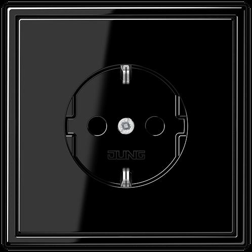 Розетка с заземляющими контактами 16 А / 250 В~ LS 990,черный глянцевый