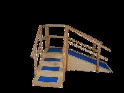 GVM Escalera De Madera Con Rampa