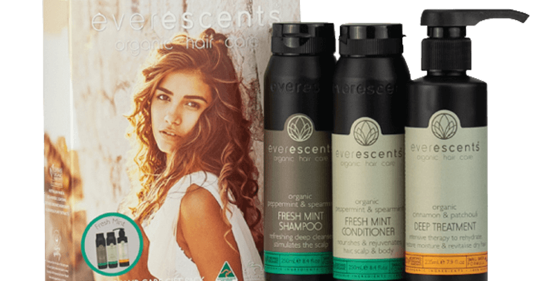 Everescents Organic Fresh Mint Hair Care Gift Pack