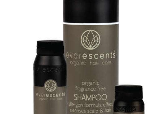 Everescents Organic Fragrance Free Shampoo 250ml / 1000ml