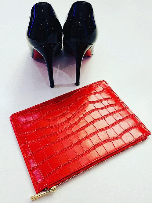 Moc Croc Clutch Red
