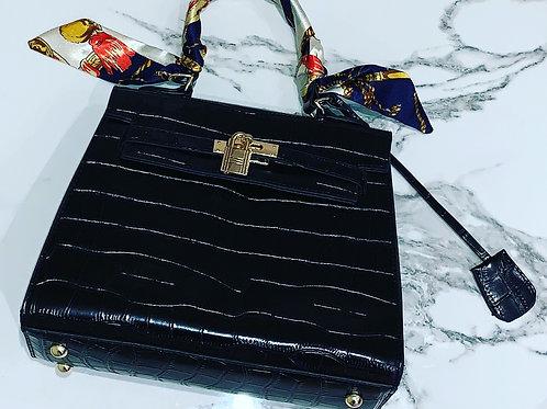 Moc Croc Handbag Mini Black