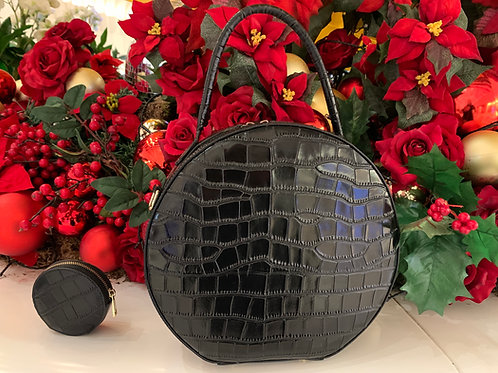 Moc Croc Hat Bag Black