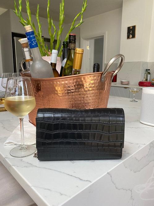 Moc Croc Chain Bag Black