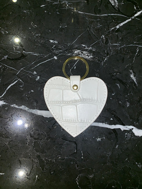 Moc Croc Heart Keyring White