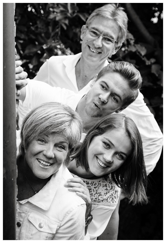 Familie schwarz-weiß