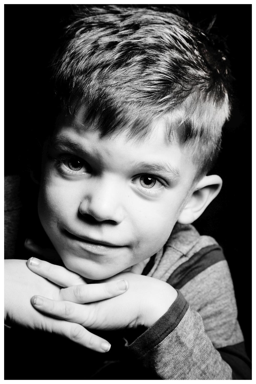 Schwarz-Weiß-Portrait